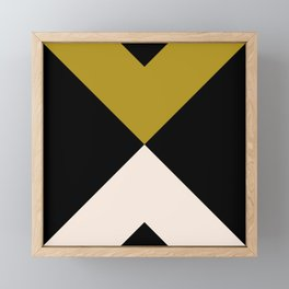 Minimal X Dark Olive Framed Mini Art Print