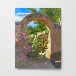 San Pasqual's Gate and Arch in Mesilla, N.M. Metal Print