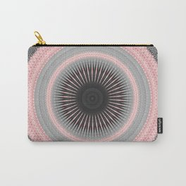 Metal Silver and Pink Mandala Abstract Carry-All Pouch