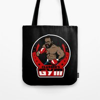 gym Tote Bags featuring Clubber's Gym by Buby87