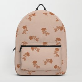 Monochrome cute dusty pink roses pattern Backpack