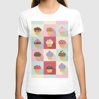 cupcakes T-shirts featuring Cupcakes by Rosa Puchalt