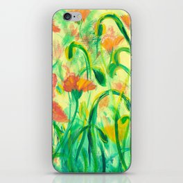 Sun drenched Poppies iPhone Skin