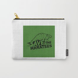 Save The Manatees II - Nature & Wildlife Gift Carry-All Pouch