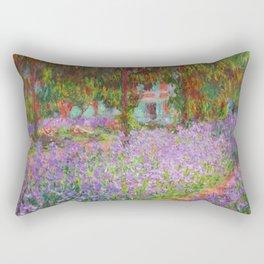 "Claude Monet ""The Artist's Garden at Giverny"" Rectangular Pillow"