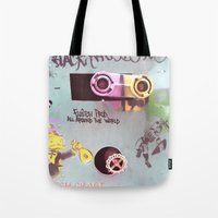 wall e Tote Bags featuring WALL-E by Oy Photography