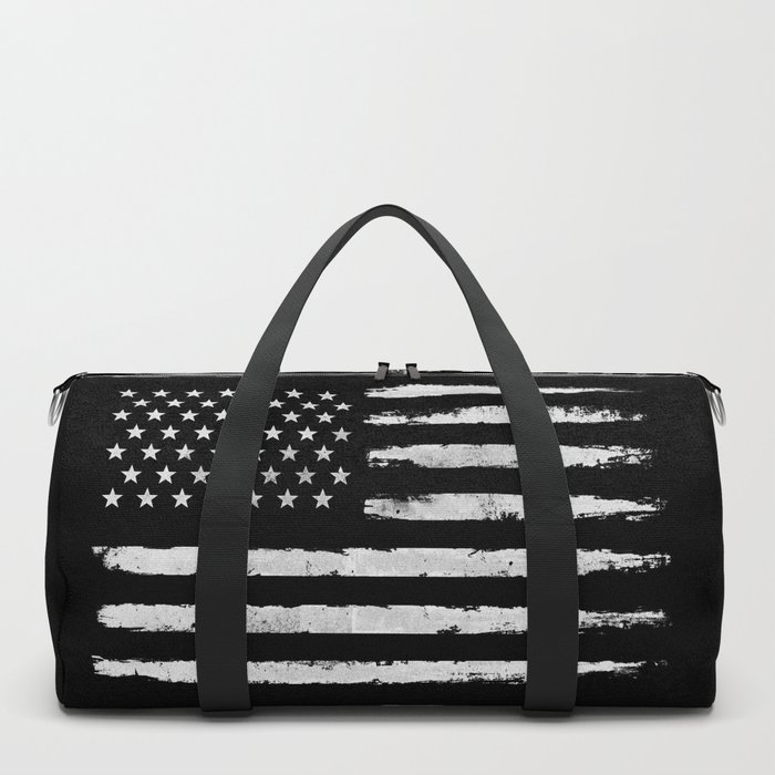White grunge American flag Duffle Bag
