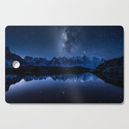 Night mountains Cutting Board
