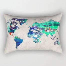 World Map 46 Rectangular Pillow