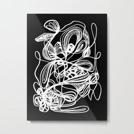 Overgrown Abstract Flower Inverse Metal Print