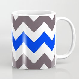 Blue Nebulas and Grey ZigZag Chevron Pattern Coffee Mug