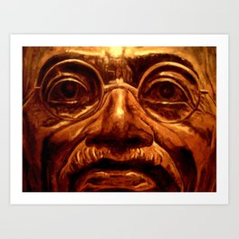 Gandhi - into the face Art Print