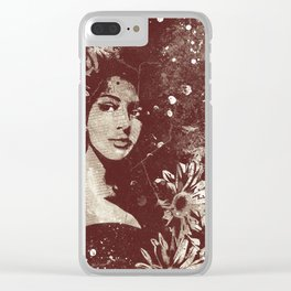 untitled #28914: Amaranth (sunflower bikini girl) Clear iPhone Case