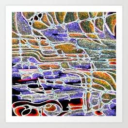 waterfall shocked Art Print