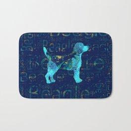 Decorative Beagle  dog Bath Mat