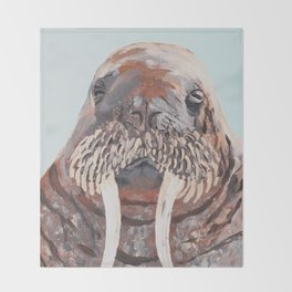 Mr. Walrus Throw Blanket
