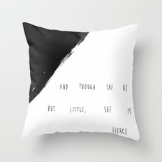 She is Fierce Throw Pillow
