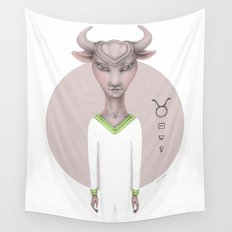 taurus astro portrait Wall Tapestry