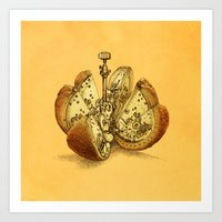 clockwork orange Art Prints featuring Steampunk Orange by Eric Fan