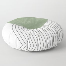 Green Moon Shape Floor Pillow