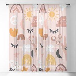 Boho mystic Sheer Curtain