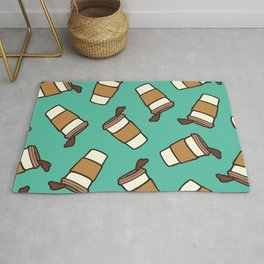 Take it Away Coffee Pattern Rug