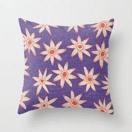 sema violet fire orange Throw Pillow