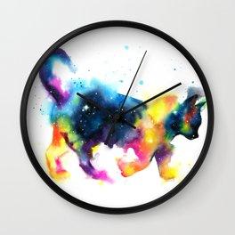Cat galaxy Wall Clock