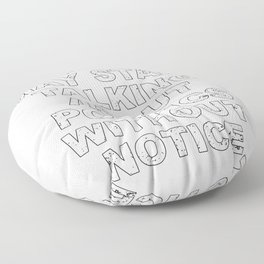 Warning May Start Talking About Politics Without Notice  product Floor Pillow