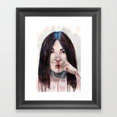 Nosebleed Framed Art Print