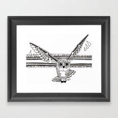 Owl fly you through the night Framed Art Print