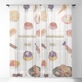 Sweet Treats Sheer Curtain