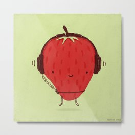 Strawberry Jammin' Metal Print