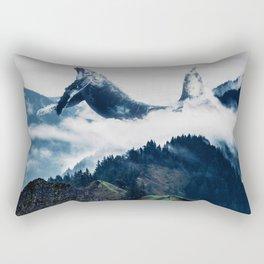 Flying Whale Rectangular Pillow