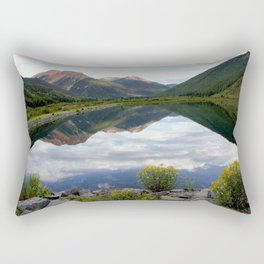 Crystal Lake on the Million Dollar Highway, elevation 9,611 feet Rectangular Pillow