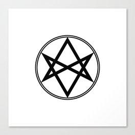 Men of Letters Symbol Black Canvas Print