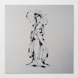 Splaaash Series - Kimono Girl Ink Canvas Print