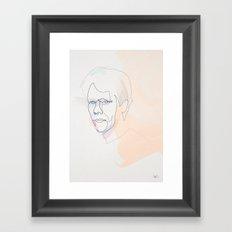 One line Kevin Bacon Framed Art Print