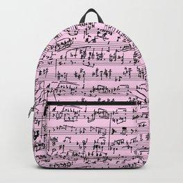 Hand Written Sheet Music // Light Pink Backpack