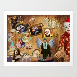 Angels, Clowns and Carousels Art Print