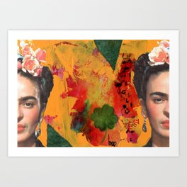 Tribute to Frida Kahlo #29 Art Print