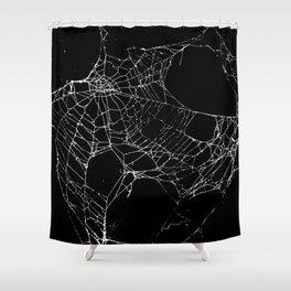 Goth SpiderWeb  Shower Curtain