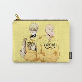 Saitama and Genos Yellow Oppai Carry-All Pouch