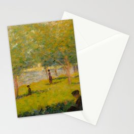 "Georges Seurat ""A Sunday on La Grande Jatte (study)"" (1884) Stationery Cards"