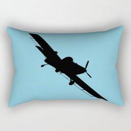 Crop Duster Silhouette Rectangular Pillow