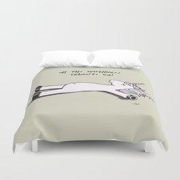 Exhausted Unicorn Duvet Cover