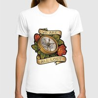 compass T-shirts featuring Compass by hvelge