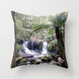 Russell Falls, Tasmania, Australia Throw Pillow