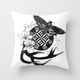 Acherontia Atropos - Hannibal Throw Pillow