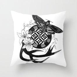 Acherontia Atropos - Hannibal Throw Pillow